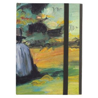 Painter at Work by Paul Cezanne, Vintage Fine Art iPad Air Cover