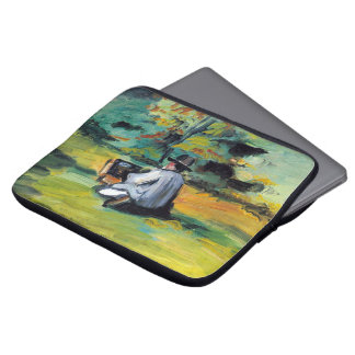 Painter at Work by Paul Cezanne, Vintage Fine Art Laptop Sleeve