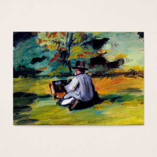 Painter at work impressionist art Paul Cezanne Business Card