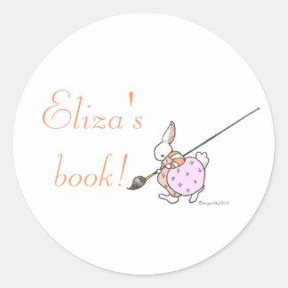 painter bunny bookplate