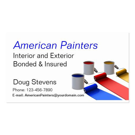 Painter Business Card Templates