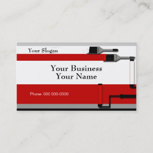 Paint roller business cards zazzle painter business card template cheaphphosting Image collections