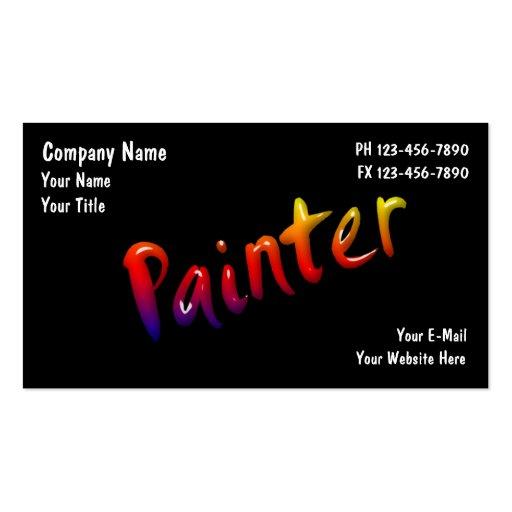 Painter business cards zazzle