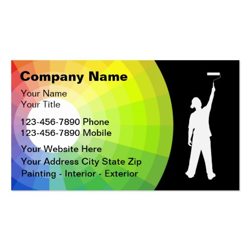 Painter business cards zazzle for Painter business card template
