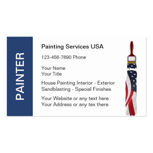painter business cards zazzle. Black Bedroom Furniture Sets. Home Design Ideas