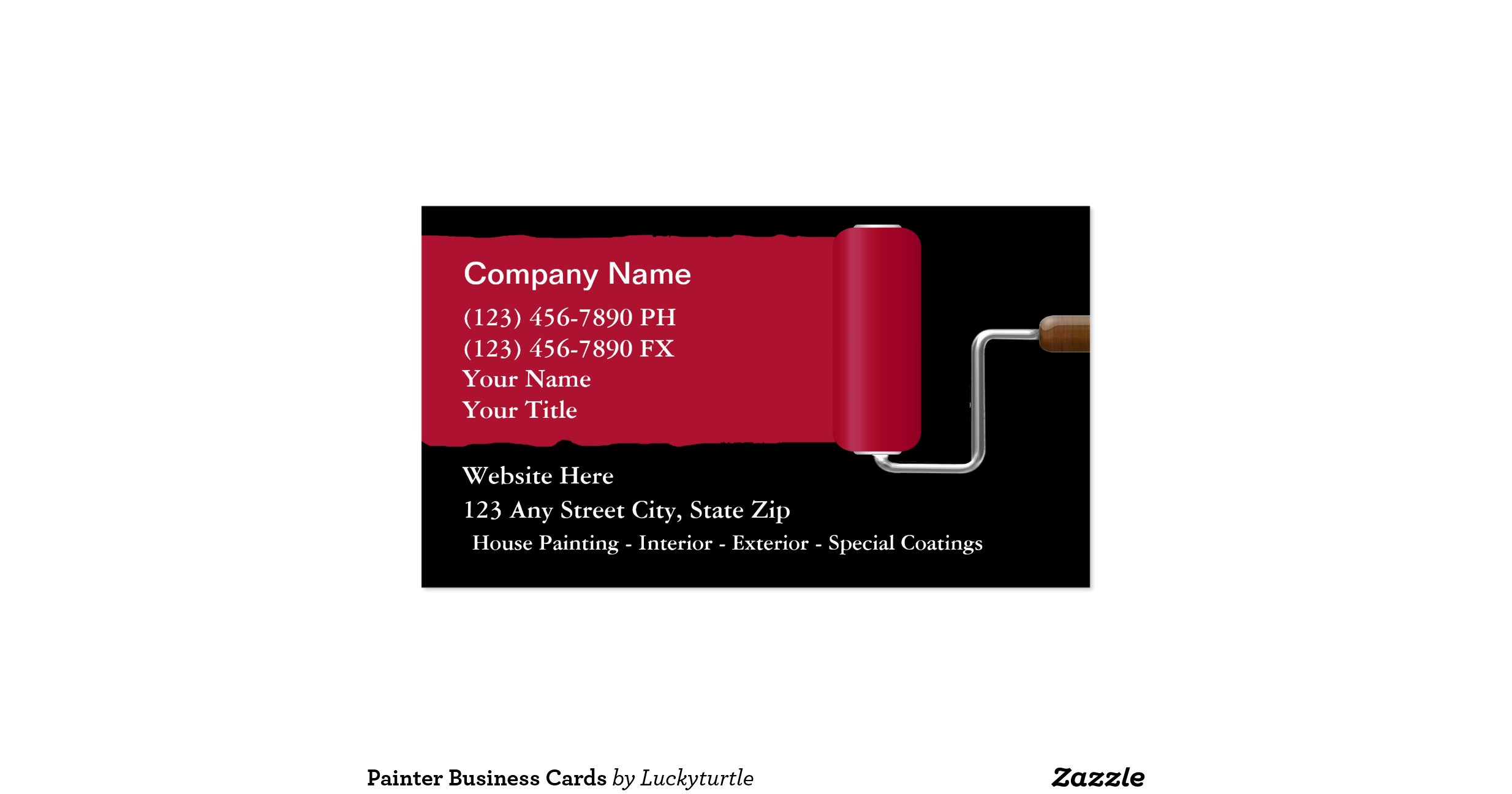 lovely gallery of painter business cards business cards