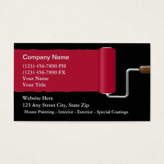 painter business cards On painting business cards