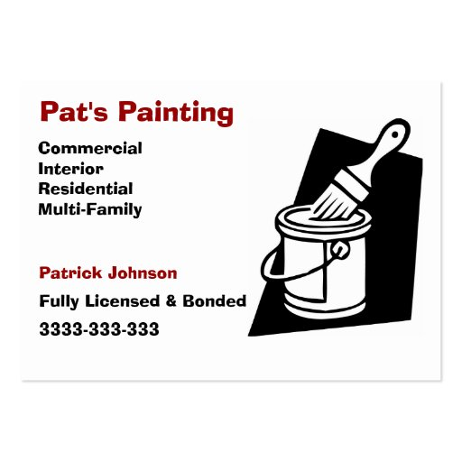 Painter businesscards large business cards pack of 100 for Painter business card template