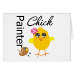 Painter Chick Greeting Card