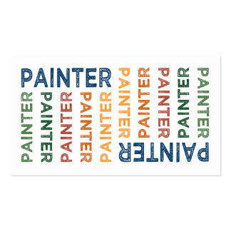 Painter Cute Colorful Business Card