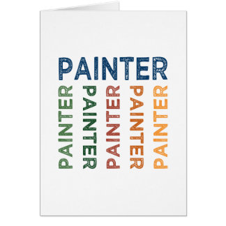 Painter Cute Colorful Card