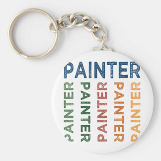 Painter Cute Colorful Keychain