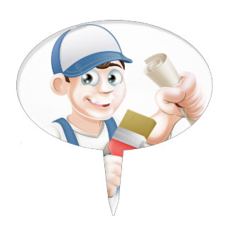 Painter decorator training cake toppers