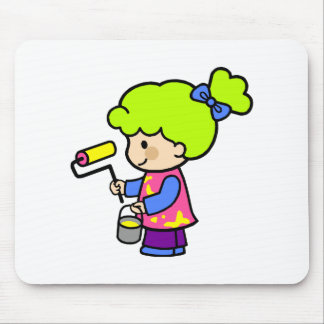 Painter Girl 2 Mouse Pad