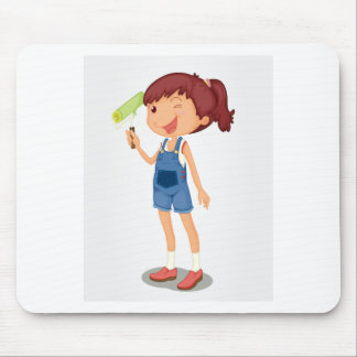 Painter girl mouse pad