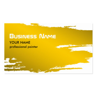 Painter Gold Business Card Template