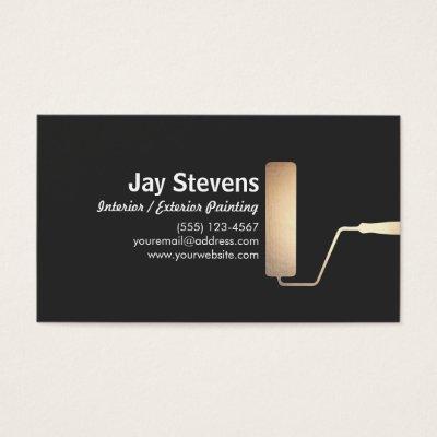 Painter black gold paint roller business card zazzle colourmoves