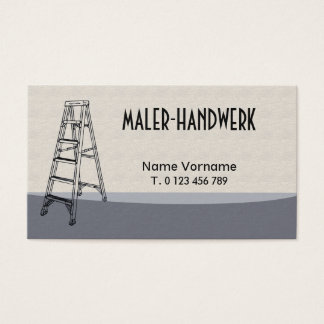 painter handicraft business card