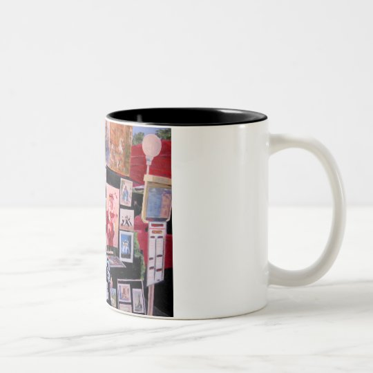 Painter in progress Two-Tone coffee mug