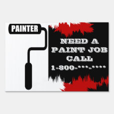 Painter Large SpeedySigns Yard Sign