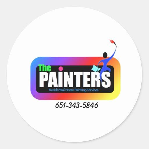 painter logo 4 round stickers