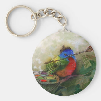 Painter Painted Bunting Bird Key Chains