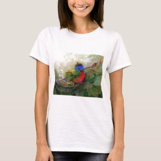 Painter Painted Bunting Bird T-Shirt