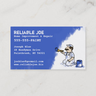 Home improvement business cards templates zazzle painter painting blue paint business card colourmoves