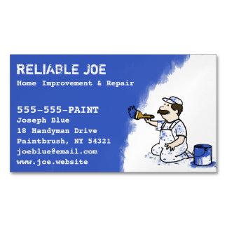 Painter Painting Blue Paint | Handyman Business Card Magnet