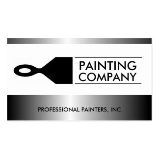 Painter Painting Contractor Paint Brush Metallic Double-Sided Standard Business Cards (Pack Of 100)