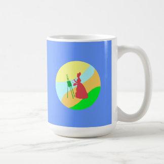 Painter paintress coffee mug