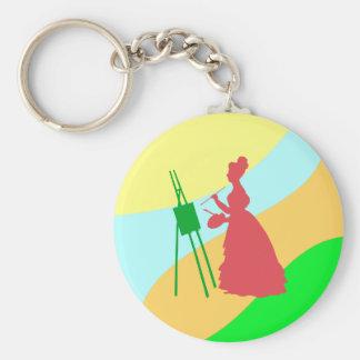 Painter paintress keychain