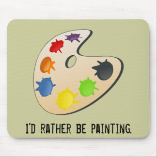 Painter Palette Mouse Pad