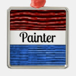 Painter Patriotic Christmas Ornament