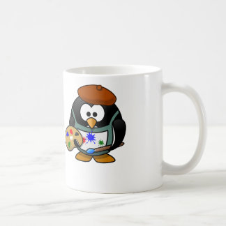 Painter Penguin - White Coffee Mug