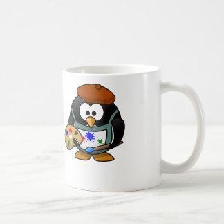 Painter Penguin - White Coffee Mug