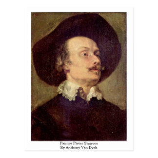 Painter Pieter Snayers By Anthony Van Dyck Postcards