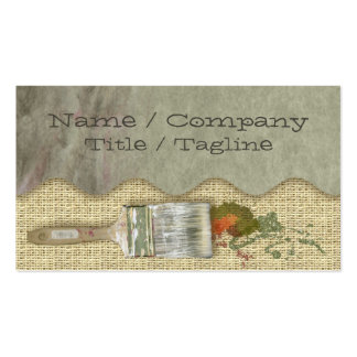 Painter´s Brushes Double-Sided Standard Business Cards (Pack Of 100)