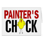 PAINTER'S CHICK CARD