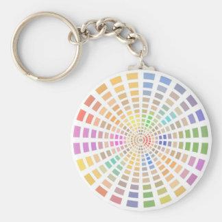 Painter's Color Palette Basic Round Button Keychain