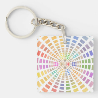 Painter's Color Palette Single-Sided Square Acrylic Keychain