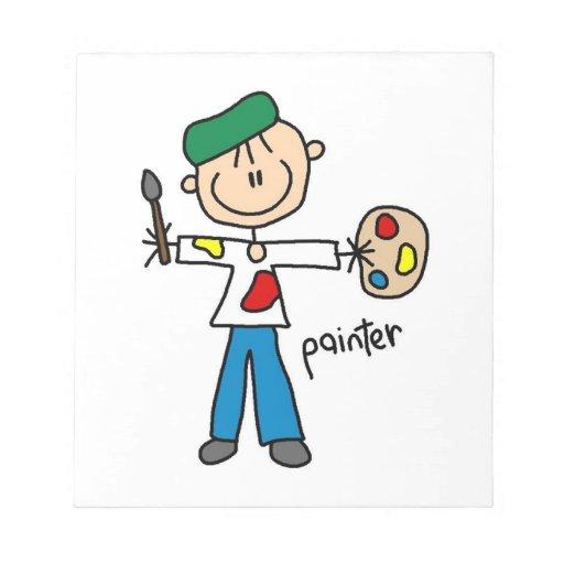 Painter Stick Figure Notepads