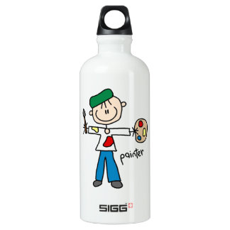 Painter Stick Figure Water Bottle