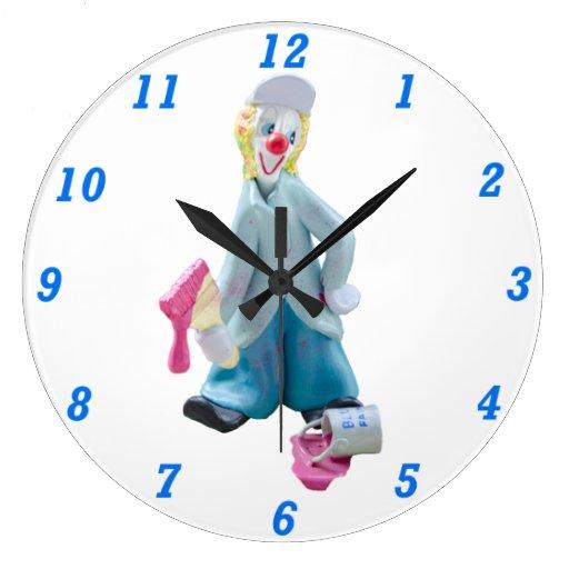 Painter the Clown Round Clock