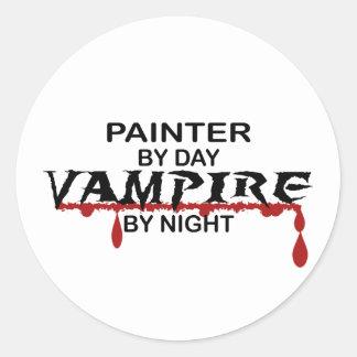 Painter Vampire by Night Classic Round Sticker