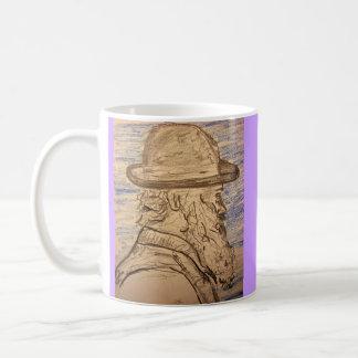painter with hat coffee mug