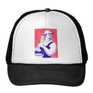 Painter With Paint Brush Trucker Hat