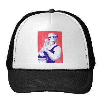 Painter With Paint Brush Trucker Hat