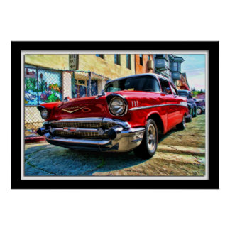Painterly 1957 Chevy Poster