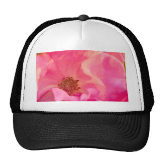 Painterly Abstract Pink Knockout Rose Trucker Hat